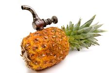 Free Ananas With Tap Royalty Free Stock Photo - 4605635