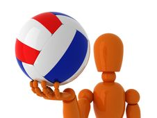 Free Volleyball For You. Royalty Free Stock Photos - 4606878