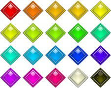 Color Buttons Royalty Free Stock Photo