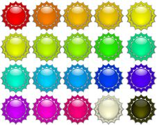 Free Color Buttons Royalty Free Stock Photo - 4607425