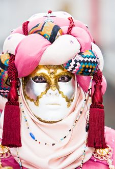 Free Pink And Red Mask Stock Image - 4607681