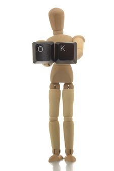 Free Manikin Showing OK Stock Image - 4608001