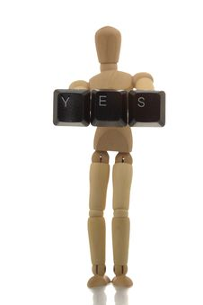 Free Manikin Showing YES Stock Image - 4608041