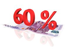 Free 3d Rendered Percentage On Euro Banknote Stock Photography - 4608162