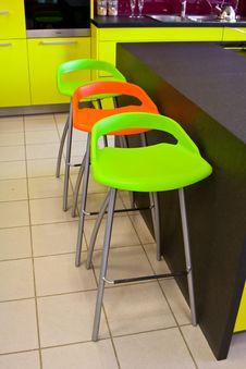 Free Stylish Colorful Bar Chair Stock Photos - 4608743