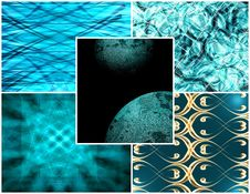 Turquoise Collage Stock Images