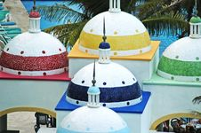 5 Domes In Swimming Pool Bar Stock Photo