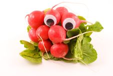 Free Googly Eyed Radishes Stock Image - 4609431