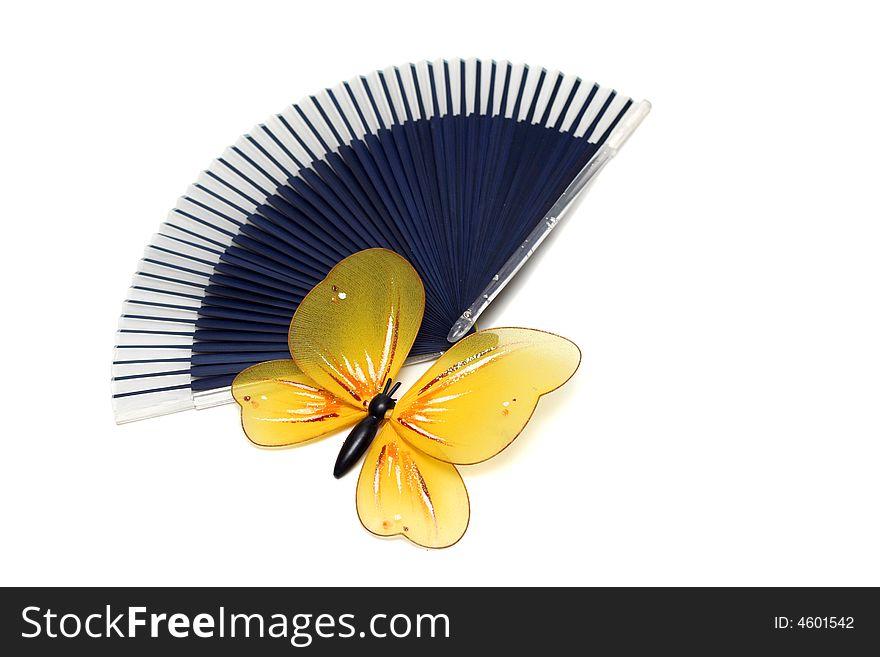 Butterfly on a fan