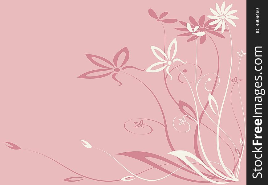 Vector floral ornament. Easy to edit