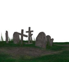 Free 3D Cemetery Stock Photography - 46052722