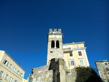 Free Steeple In The Old Town Of Corfu Stock Images - 46092984