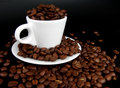 Free A Coffee Mug Full Of Coffee Beans Royalty Free Stock Images - 4613609