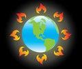 Free Earth On Global Warming Stock Image - 4614341