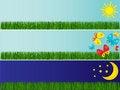 Free Three Banners Stock Image - 4615221