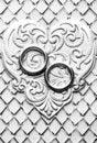 Free Monochrome Wedding Card Royalty Free Stock Image - 4619466
