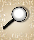 Free Decorative Border With Magnifying Glass Stock Photo - 4619480