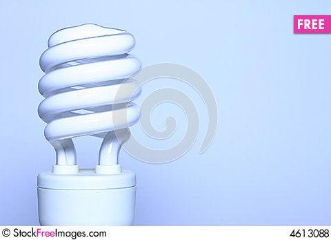 Free Energy Saver - Blue Light Bulb Royalty Free Stock Photos - 4613088