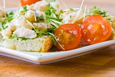 Free Prawn, Cress And Tomato Sandwich Royalty Free Stock Images - 4610589