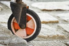 Free White And Red Wheel Stock Image - 4611081