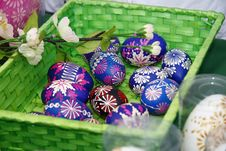 Free Basket Of Easter Eggs Royalty Free Stock Photos - 4611248