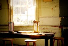 Free Old Candle Reading Lamps By Window Royalty Free Stock Photography - 4611437