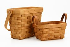 Free Two Wicker Baskets Royalty Free Stock Photos - 4611968