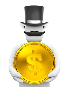 Free Oligarch And Coin Royalty Free Stock Photos - 4612408