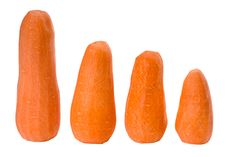Free Four Peeled Carrots Cutout Stock Photo - 4612610