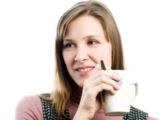 Free Girl With Cup Stock Photos - 4612793