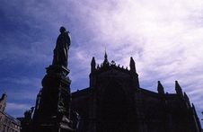 St. Giles  Cathedral In Edinburgh Stock Photo