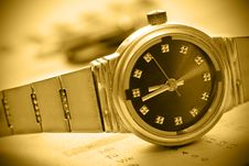Free Sepia Tint Watch Time Concept Stock Photos - 4613933