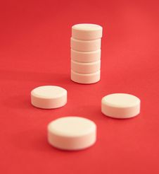 Free Tower Of White Tablets Royalty Free Stock Images - 4615069