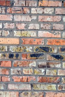 Free Old Wall From A Red Brick. Background 2 Royalty Free Stock Images - 4615099
