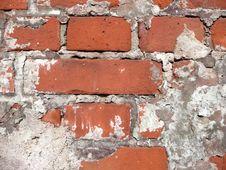 Wall Of Old Bricks Royalty Free Stock Photo