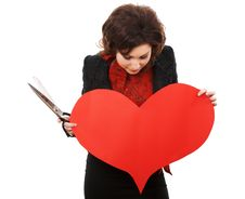 Free Paper Heart Stock Image - 4615271