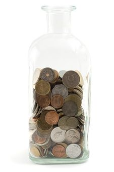 Free Jar With Coins Stock Image - 4615391