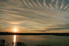 Free Sunset On The Lake Royalty Free Stock Photos - 4615448