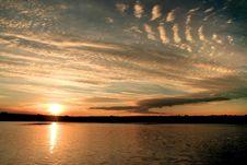Free Sunset On The Lake Stock Photography - 4615452