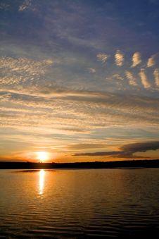 Free Sunset On The Lake Stock Image - 4615461
