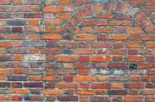 Old Gothic Style Brick Wall Stock Photography