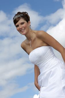 Bride On The Clouds Stock Photography