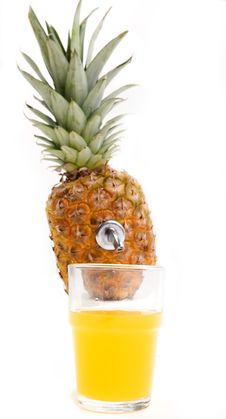 Free Pineapple Source Royalty Free Stock Photo - 4617225