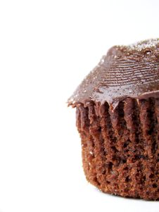 Free Iced Chocolate Cupcake, Right Royalty Free Stock Images - 4618469
