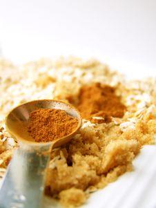Cinnamon In Measuring Spoon Royalty Free Stock Image