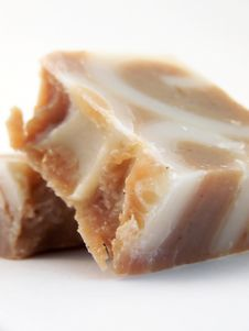 Free Crumbled Handmade Cinnamon Soap, Leaning Stock Images - 4618634