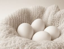 Free Eggs And Crochet, Black And White Horizontal Stock Images - 4618734