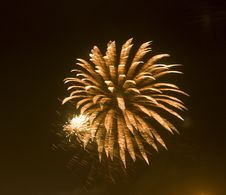 Fireworks Flower Royalty Free Stock Photography