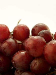 Piled Wet Red Grapes Stock Photos
