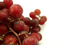 Free Red Grapes On White Stock Photography - 4619092